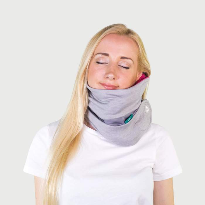 Trtl Pillow Plus Being Worn